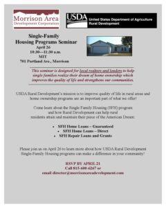 USDA Single Family Housing Workshop 4.26.17 flyer
